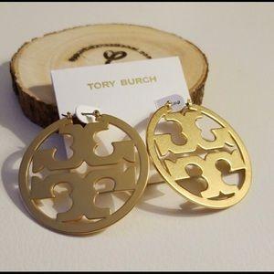 Tory Burch Miller Hoops Earrings